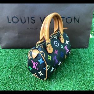 Aut Preowned Louis Vuitton mini speedy multicolor